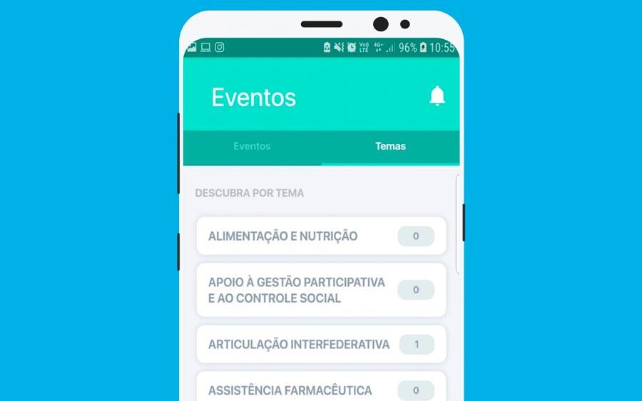 Confira no celular a lista de eventos do Ministério da Saúde
