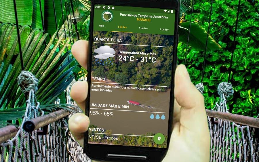 Confira a previsão do tempo em toda a floresta amazônica