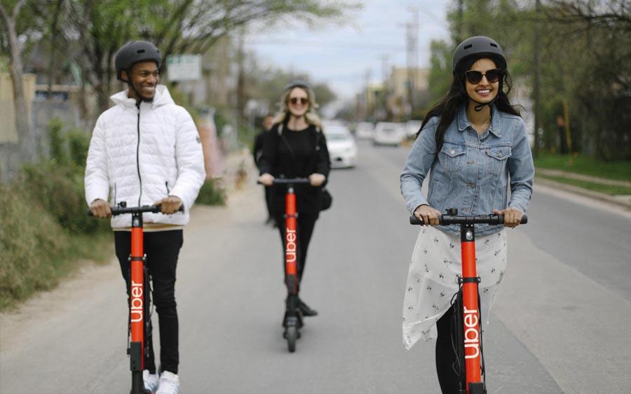 Agora você pode andar de patinetes elétricos da Uber