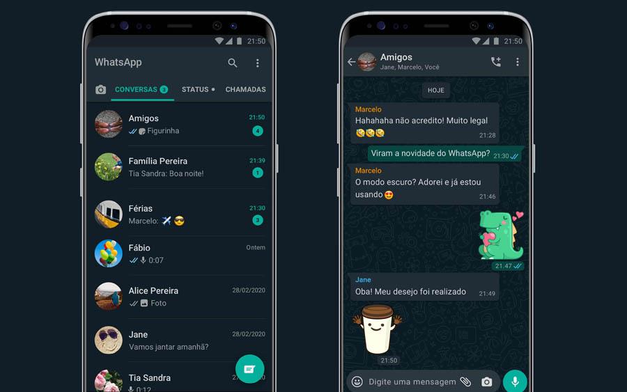Modo escuro chega ao WhatsApp para iPhone e Android
