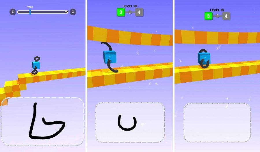Draw Climber, um jogo de corrida que depende exclusivamente de você para ganhar fazendo desenhos como as pernas de seu personagem