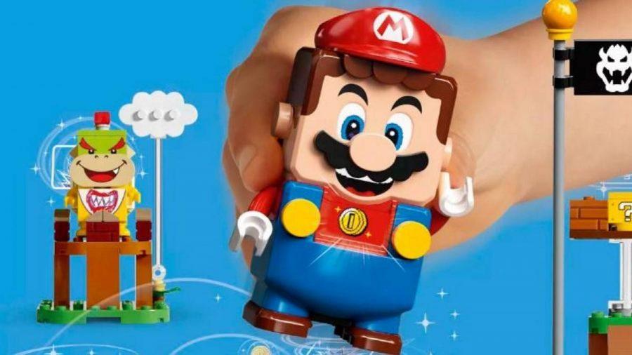 Esse novo lançamento da LEGO com a Nintendo, consiste em montar algumas fases físicas do game, como nas telas eletrônicas