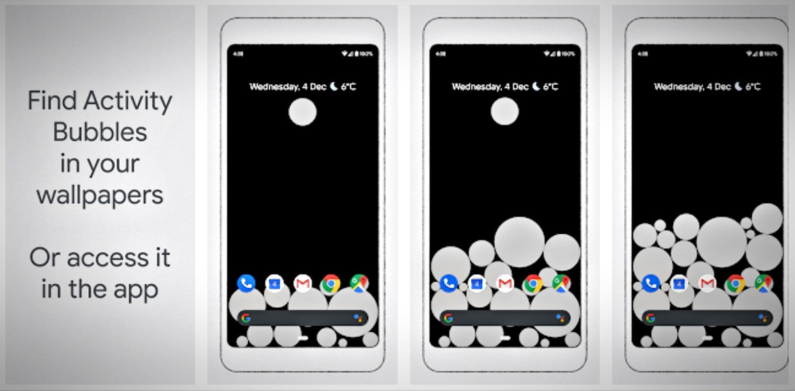 Quanto mais usar seu aparelho celular as bolhas do fundo crescem.