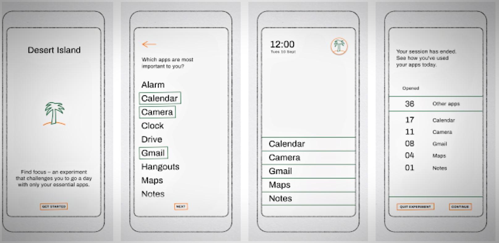O sistema deste aplicativo inicia uma contagem, criando um mini menu.