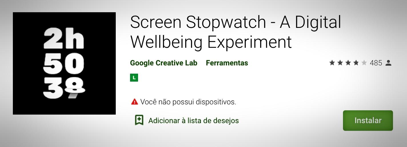 """Desbloqueando seu aparelho o app atualiza mostrando o tempo em que o usuário está """"logado""""."""