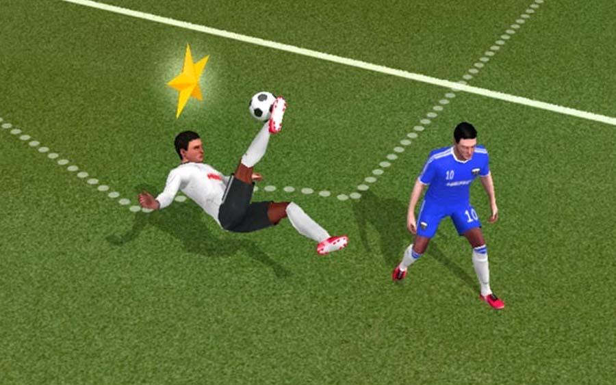 Jogar futebol no celular é bacana com o Score! Hero