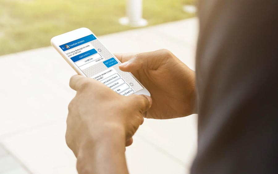 E sabe o que é melhor? Você usa o aplicativo como se estivesse em uma conversa. Tudo bem acessível e fácil de usar.