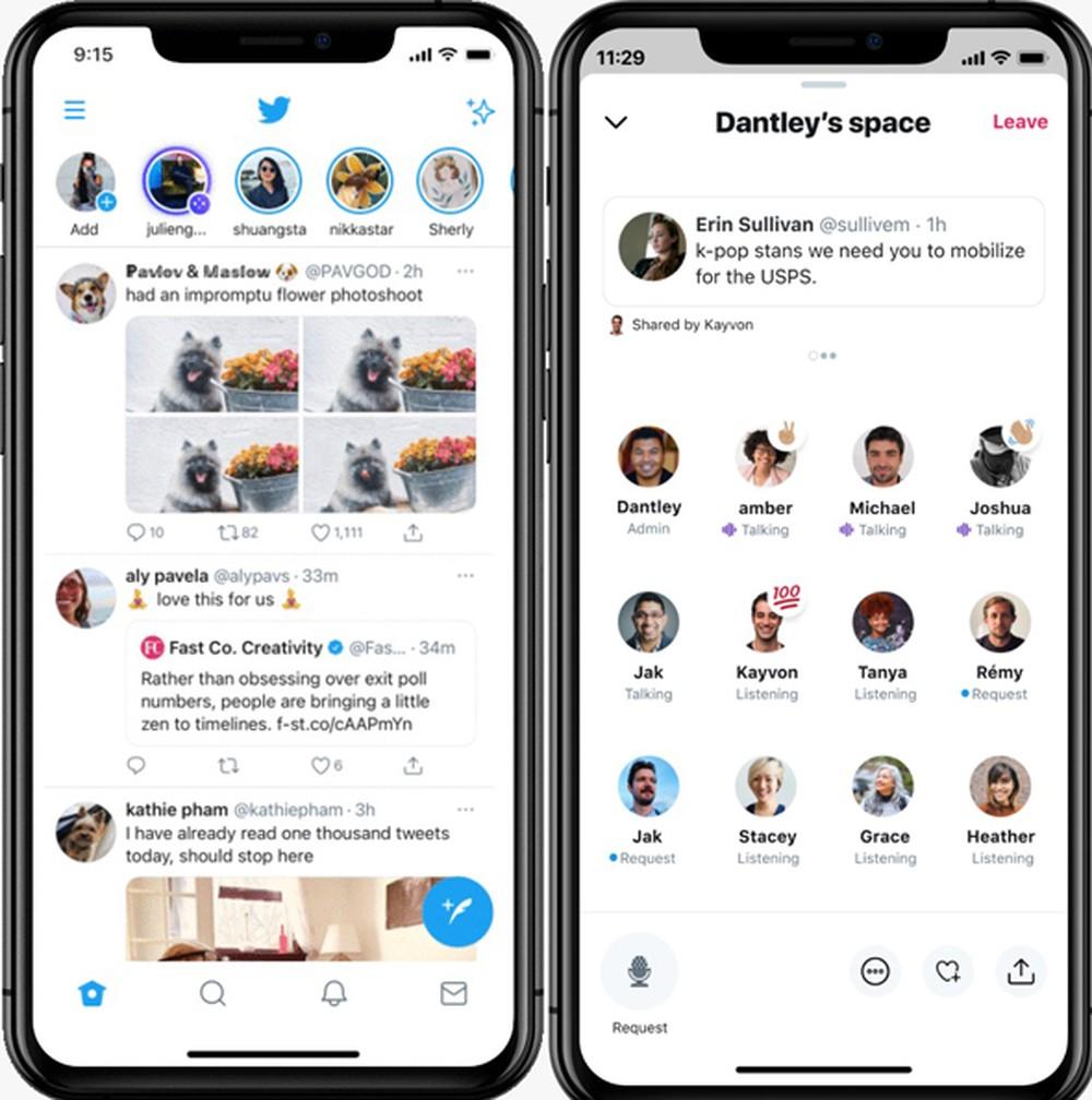 Audio Space no Twitter permite conferir lista de participantes na sala