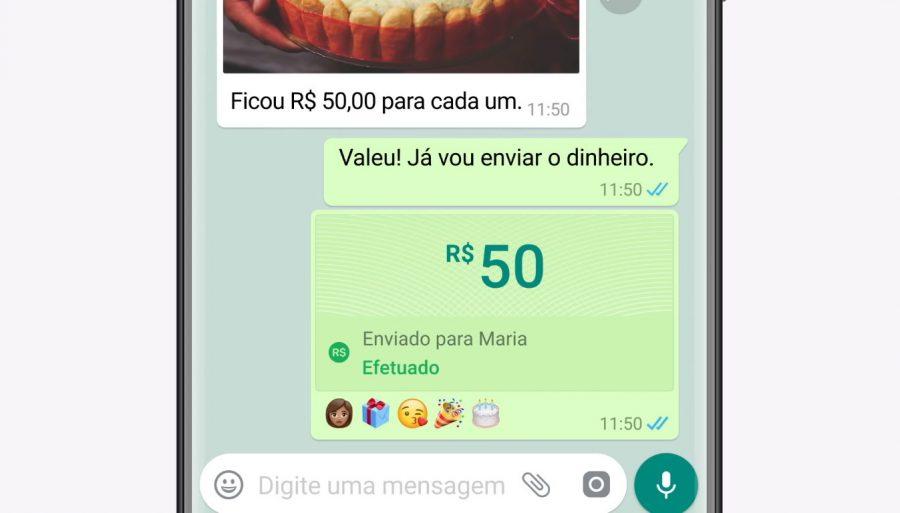 WhatsApp Pagamentos (Imagem: Divulgação/WhatsApp)