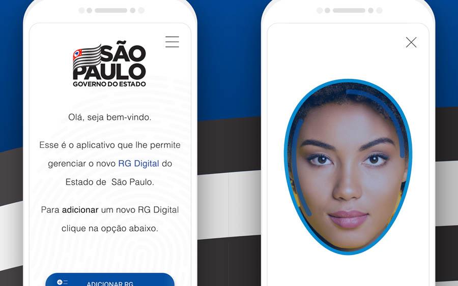 De forma simples, o cidadão pode carregar seu RG do Estado de São Paulo no seu celular. Basta usar o app para ler o Código QR no verso do documento e fazer a verificação da identidade através do reconhecimento facial.
